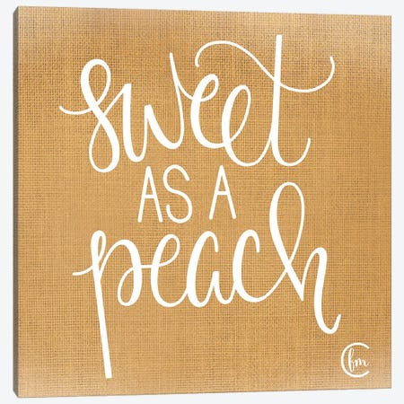 Sweet as a Peach Canvas Print #FMC79} by Fearfully Made Creations Canvas Artwork
