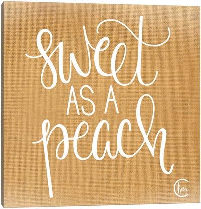Sweet as a Peach Canvas Art Print