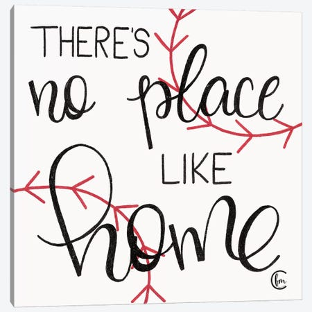No Place Like Home Plate Canvas Print #FMC7} by Fearfully Made Creations Canvas Wall Art