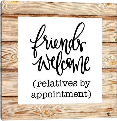 Friends Welcome Canvas Art Print