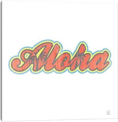 Aloha Retro Canvas Art Print