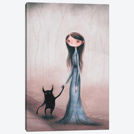 Into The Woods Canvas Print #FMM14} by Femke Muntz Canvas Art Print