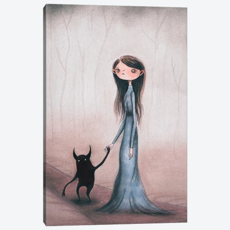 Into The Woods Canvas Print #FMM14} by Femke Muntz Canvas Art Print
