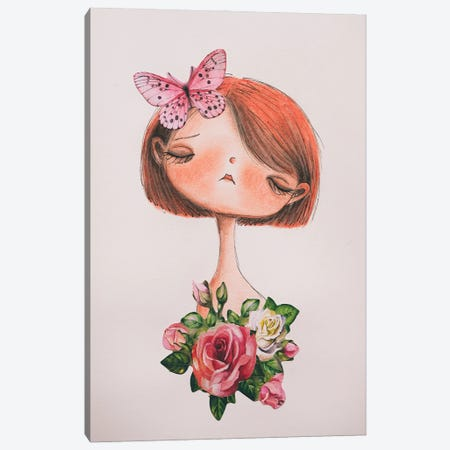 The Butterfly Canvas Print #FMM16} by Femke Muntz Canvas Art Print