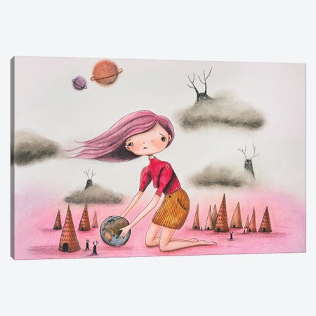 Earthday Canvas Print #FMM18} by Femke Muntz Canvas Wall Art