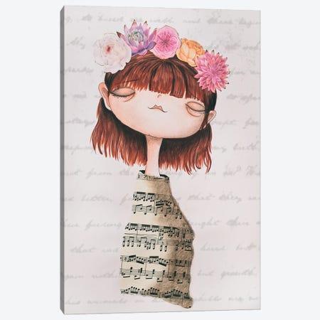 The Piano Girl Canvas Print #FMM1} by Femke Muntz Canvas Print
