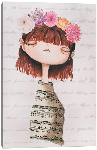 The Piano Girl Canvas Art Print