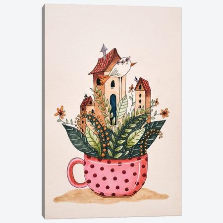 Houses In A Cup Canvas Print #FMM21} by Femke Muntz Canvas Art Print