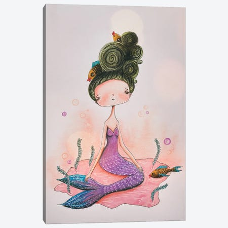 The Mermaid Canvas Print #FMM24} by Femke Muntz Canvas Art