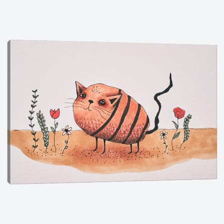 Mr. Potato Cat Canvas Print #FMM25} by Femke Muntz Canvas Wall Art