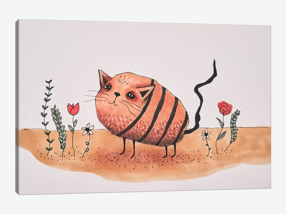 Mr. Potato Cat by Femke Muntz 1-piece Canvas Print