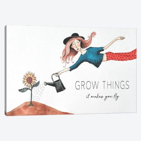 Grow Things Canvas Print #FMM32} by Femke Muntz Canvas Wall Art