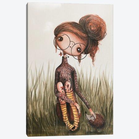 Hattie And The Hedgehog Canvas Print #FMM33} by Femke Muntz Canvas Wall Art