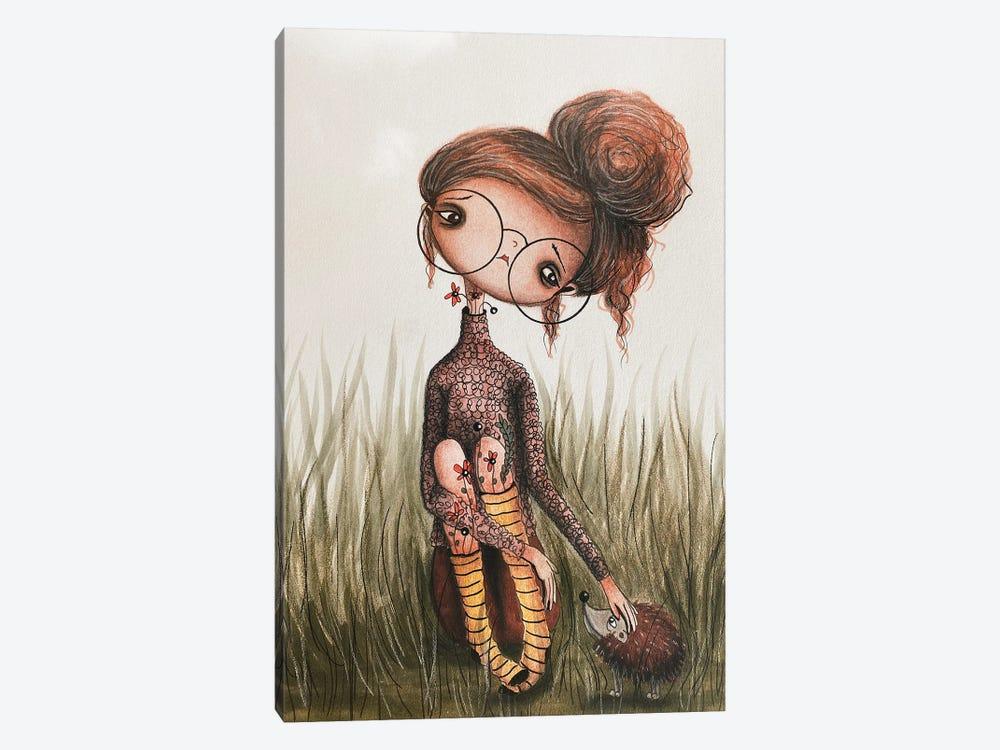 Hattie And The Hedgehog by Femke Muntz 1-piece Canvas Wall Art