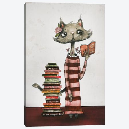 Ms. Carly The Catlady Canvas Print #FMM36} by Femke Muntz Canvas Art Print