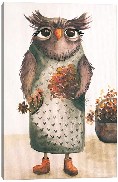 Mrs. Owl Canvas Art Print