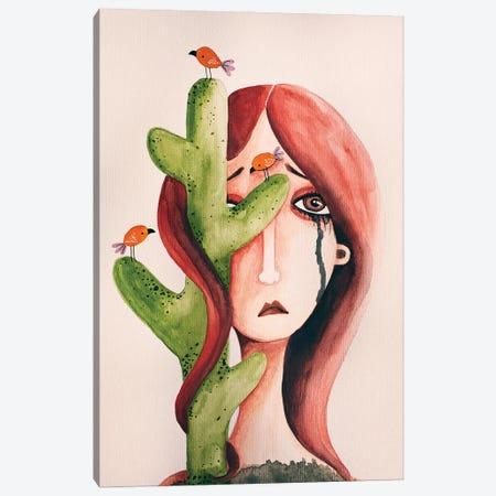 Cactus Lady Canvas Print #FMM42} by Femke Muntz Canvas Print