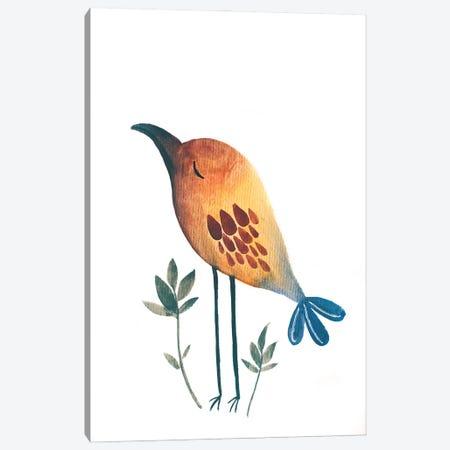 Bird Canvas Print #FMM45} by Femke Muntz Canvas Wall Art