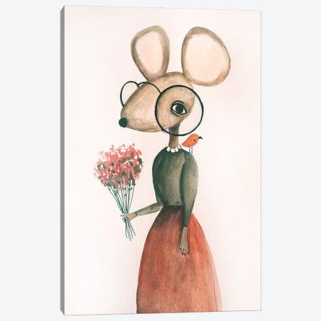 Mrs. Mory The Mouse Canvas Print #FMM50} by Femke Muntz Canvas Artwork