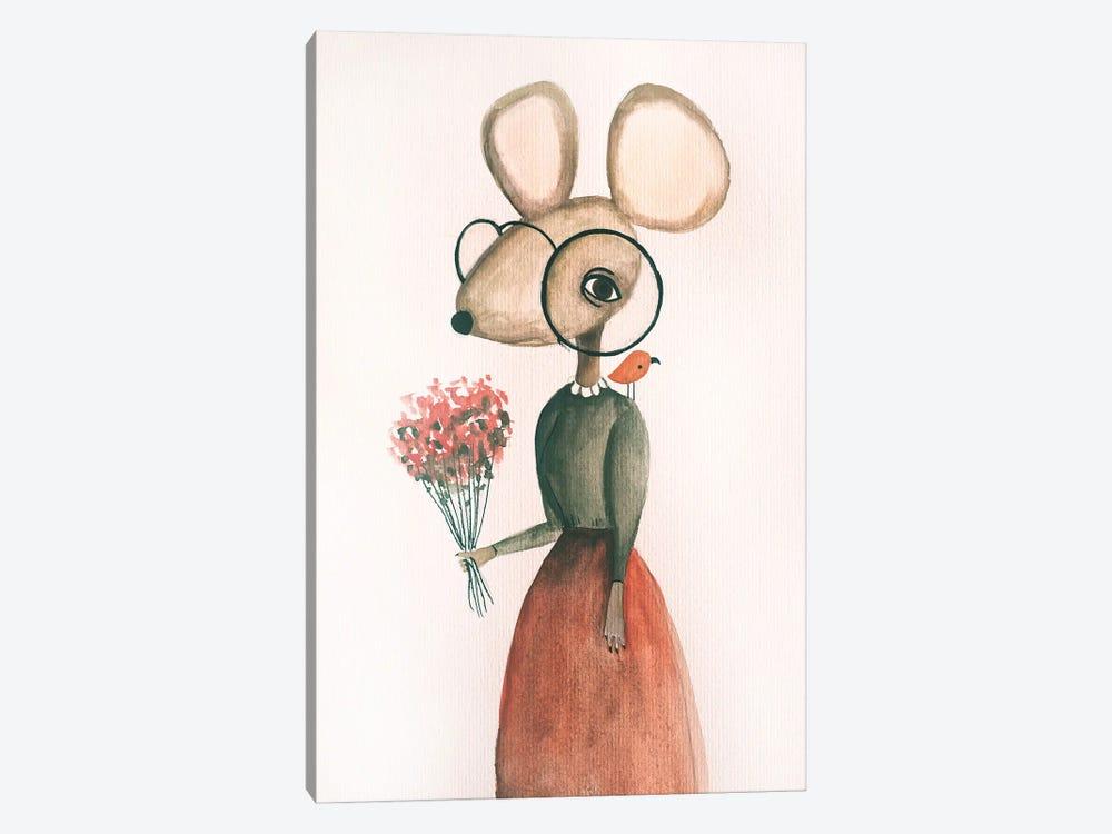 Mrs. Mory The Mouse by Femke Muntz 1-piece Canvas Print
