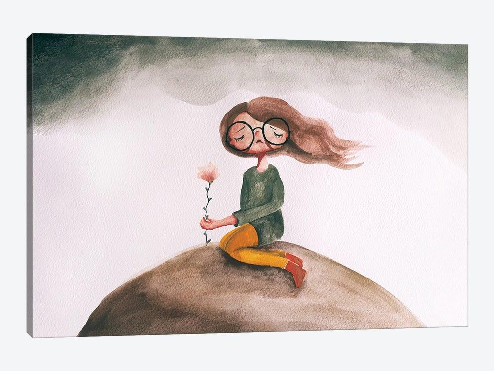 The Lonely Flower by Femke Muntz 1-piece Canvas Art