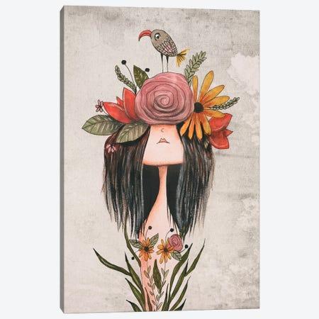 The Flower Crown Canvas Print #FMM5} by Femke Muntz Canvas Art