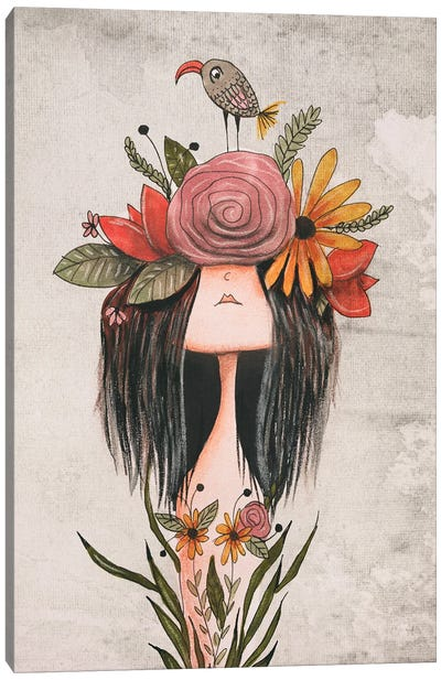 The Flower Crown Canvas Art Print