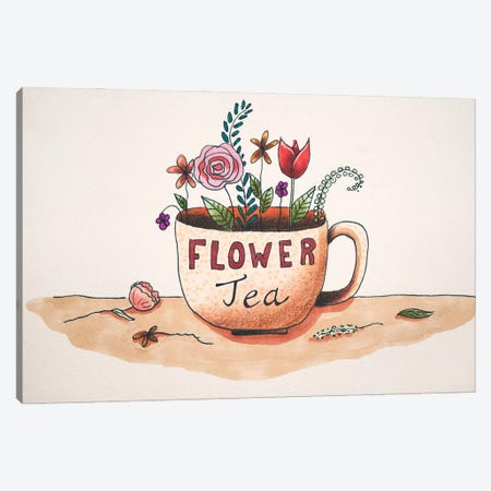 Flower Tea Canvas Print #FMM6} by Femke Muntz Canvas Artwork