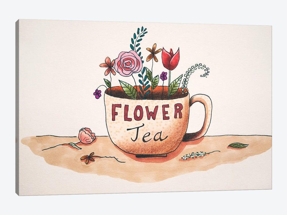Flower Tea by Femke Muntz 1-piece Canvas Print