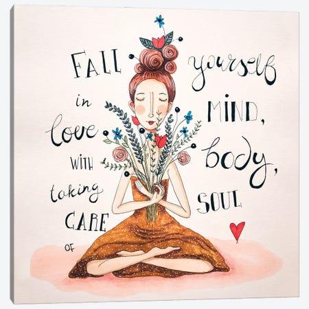 Mind, Body, Soul Canvas Print #FMM7} by Femke Muntz Canvas Wall Art