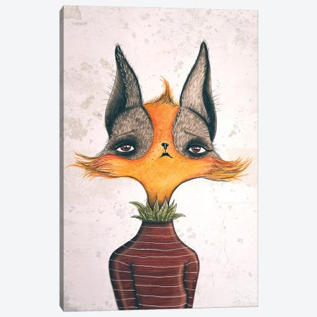 Mrs. Fox Canvas Print #FMM8} by Femke Muntz Canvas Print