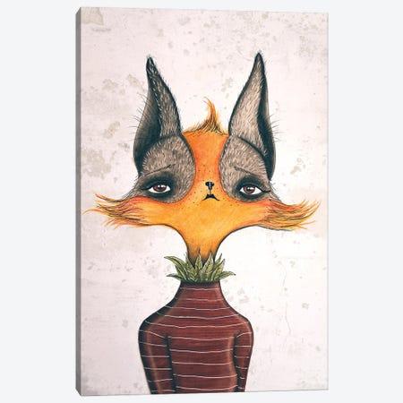 Mrs. Fox Canvas Print #FMM8} by Femke Muntz Canvas Print