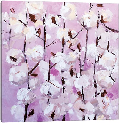 Cotton Flowers Canvas Art Print