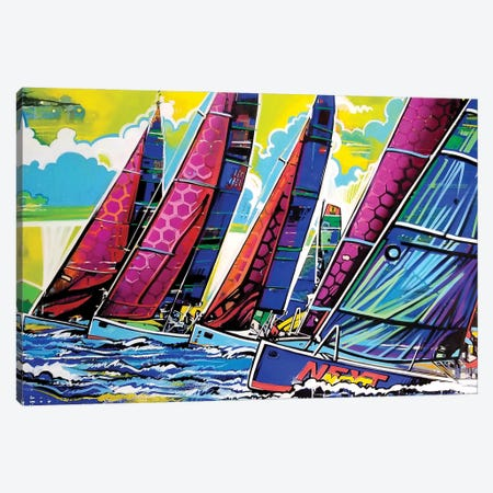 Fresa Air Canvas Print #FMO103} by Fernan Mora Canvas Wall Art