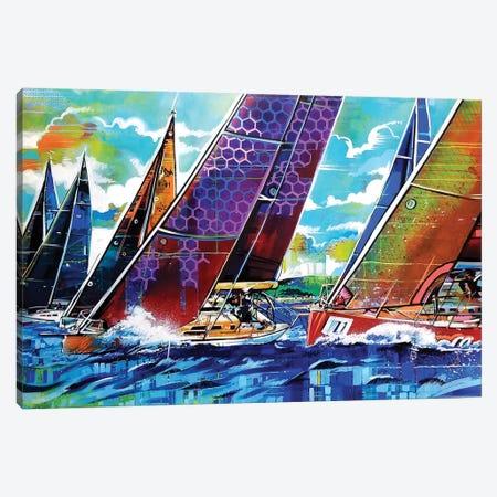 Color Regatta Canvas Print #FMO104} by Fernan Mora Canvas Print