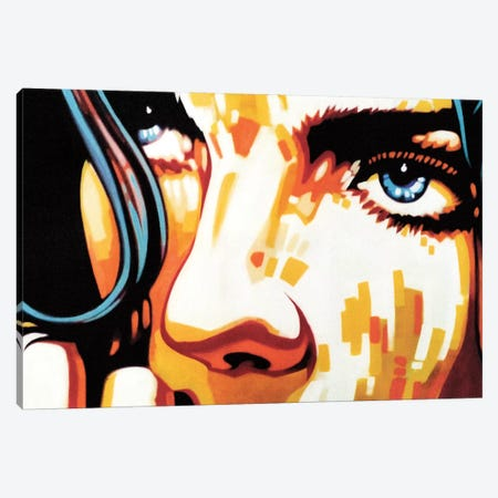 Electric Blue IV Canvas Print #FMO13} by Fernan Mora Canvas Artwork