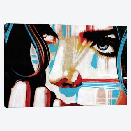 Electric Blue V Canvas Print #FMO14} by Fernan Mora Canvas Print