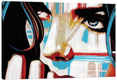 Electric Blue V Canvas Art Print