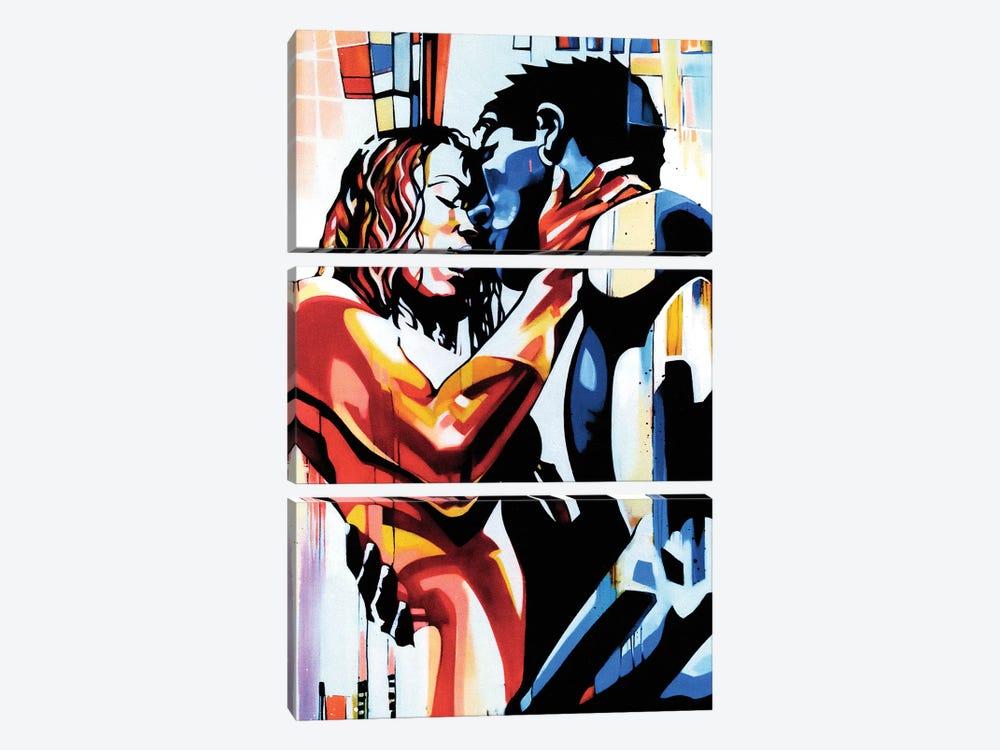 What Lovers Do by Fernan Mora 3-piece Canvas Print