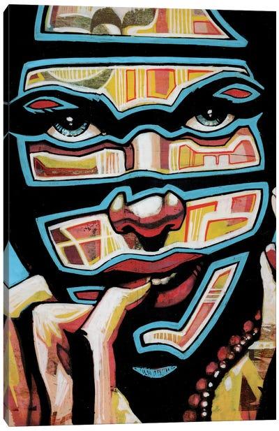 Bleu Lines Canvas Art Print