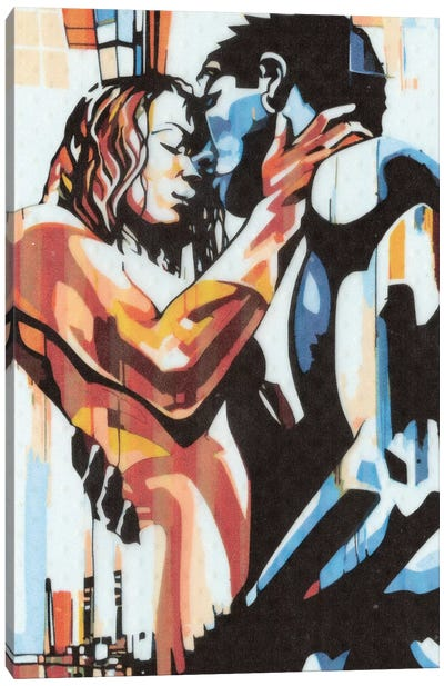 Colorful Embrace I Canvas Art Print