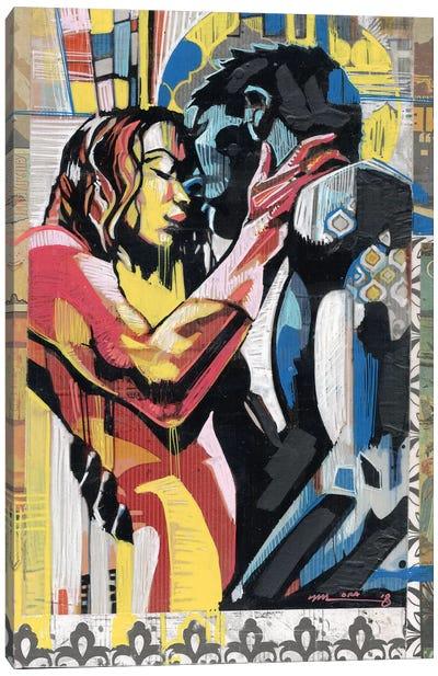 Colorful Embrace II Canvas Art Print