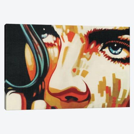 Electric Blue IV Canvas Print #FMO39} by Fernan Mora Canvas Art