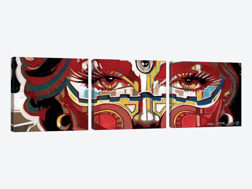 Scarlet Mascarade by Fernan Mora 3-piece Canvas Art Print