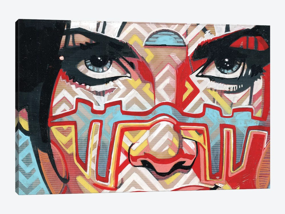 Tribal Looks 1-piece Canvas Wall Art