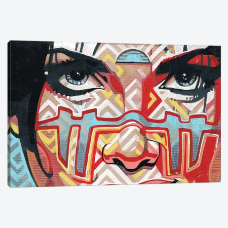 Tribal Looks Canvas Print #FMO49} by Fernan Mora Canvas Print