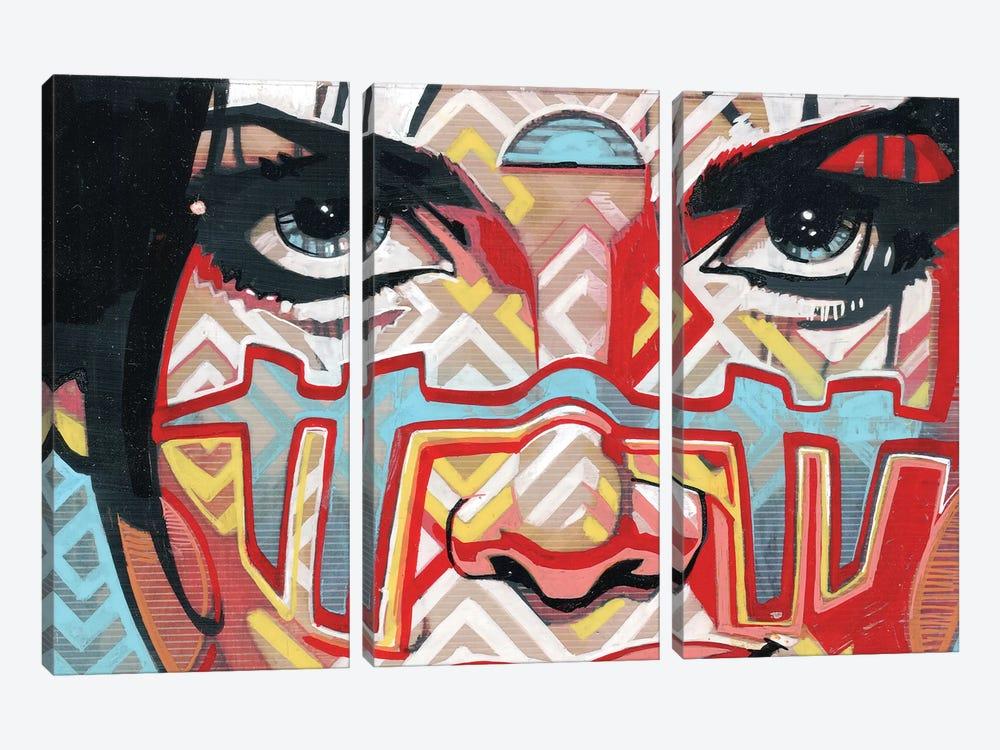 Tribal Looks by Fernan Mora 3-piece Canvas Wall Art