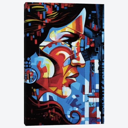 Beautiful Beast Canvas Print #FMO56} by Fernan Mora Art Print