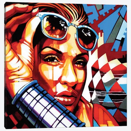 Chela Lee Canvas Print #FMO60} by Fernan Mora Canvas Print