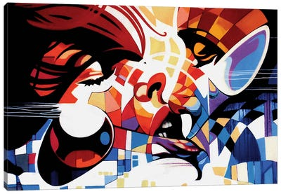 Cyber Love Canvas Art Print